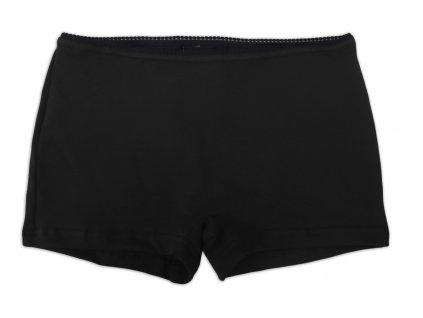 Dámské kalhotky bavlněné, nohavičkové, černé,