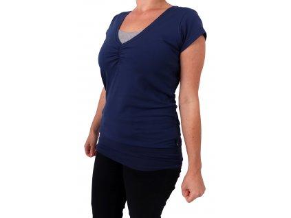 Kojící tričko LEA, krátký rukáv, tmavě modré (jeans)