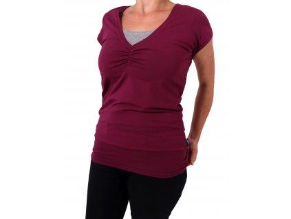 Kojící tričko LEA, krátký rukáv, cyklámen