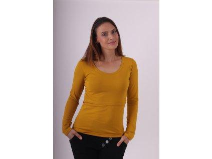 Kojicí tričko Kateřina, dlouhý rukáv, hořčicové
