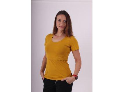 Kojicí tričko Kateřina, krátký rukáv, hořčicové