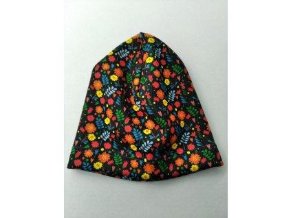 Čepice spadená rozkvetlá, vel. L, 50 cm