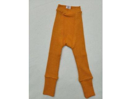 Manymonths Vlněné svrchní kalhotky z dvojité pleteniny Festive Orange/ Frosteda Berry 80-100 cm