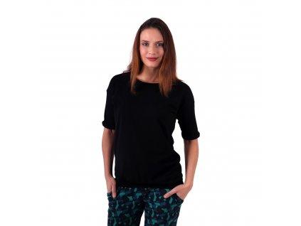 Dámské oversized tričko Darina, černé