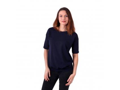 Dámské oversized tričko Darina, tmavě modré
