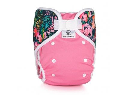 Svrchní kalhotky XL Duo Růžová + Květy
