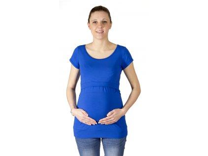kojící a Těhotenské tričko Rialto Denisa, kobalt modrá 0442 Dámská velikost: 38