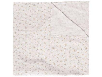 Bebe-Jou Mušelínová plenka 110x110 cm Fabulous Wish Grey