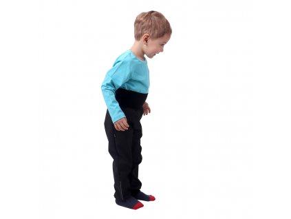 Jarní/letní dětské softshellové kalhoty, černé