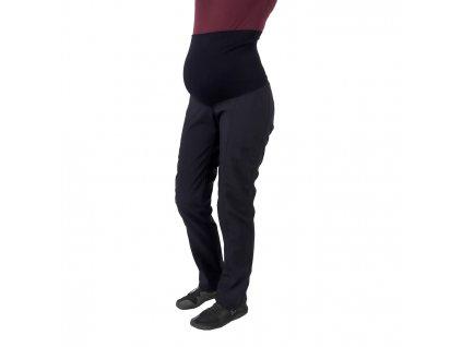 Jarní/Letní těhotenské softshellové kalhoty Liva, černé,