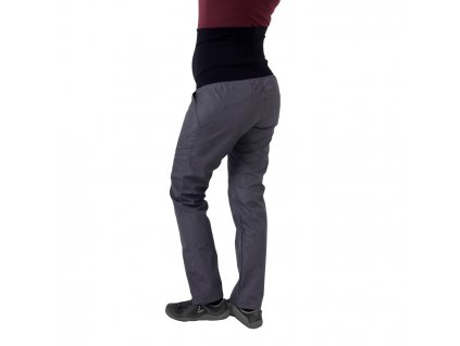 Jarní/Letní těhotenské softshellové kalhoty Liva, šedý melír,