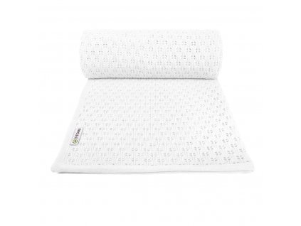 Dětská pletená deka summer, white / bílá