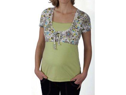 Těhotenské a kojící tričko Rialto Duvy bílá-tisk 0185 Dámská velikost: 44