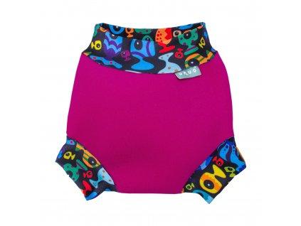 8574 4 neoprenove kojenecke plavky rybicky ruzove baby swimsuit