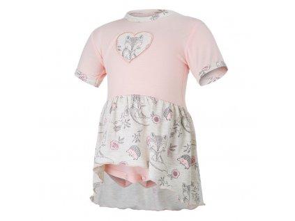 Little Angel Body šaty tenké KR set Outlast® - sv.pudrová/liška