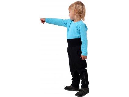 JOŽÁNEK Dětské softshellové kalhoty, černé, vel. , Kolekce 2021