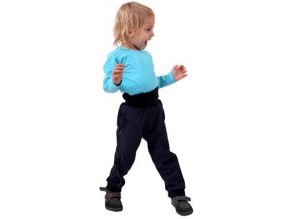 JOŽÁNEK Dětské softshellové kalhoty, tmavě modré, vel. , Kolekce 2021
