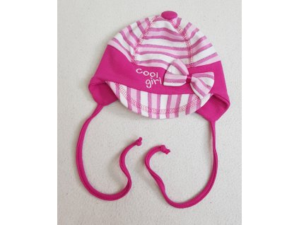 Čepička Cool girl růžový pruh, vel. 2