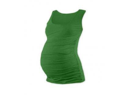 Těhotenské tílko Johanka, tmavě zelené, vel XXL/XXXL, sleva na vystavený kus