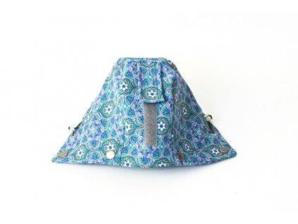 Druhá kapucka k nosícímu dílu kabátu s modrým vzorem | Adelay