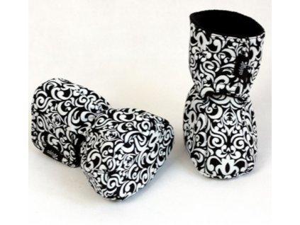 Dětské softshellové botičky, černo-bílé | Adelay //NASKLADNĚNÍ BĚHEM ŘÍJNA