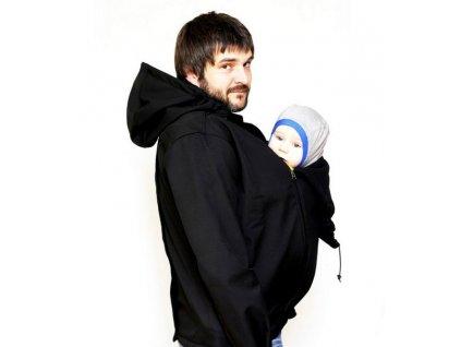 Pánská softshellová nosící bunda 2v1, černá | Adelay