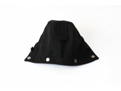 Druhá kapucka k nosícímu dílu pánské černé bundy | Adelay