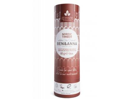 Ben & Anna Tuhý deodorant BIO (60 g) - Severské dřevo