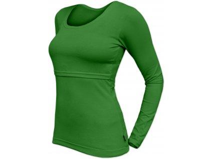 Kojicí tričko Kateřina, dlouhý rukáv, tmavě zelené, L/XL