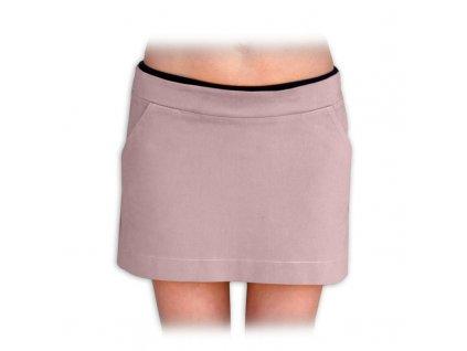 těhotenská sukně celoroční denim jeans riflovina barevná béžová
