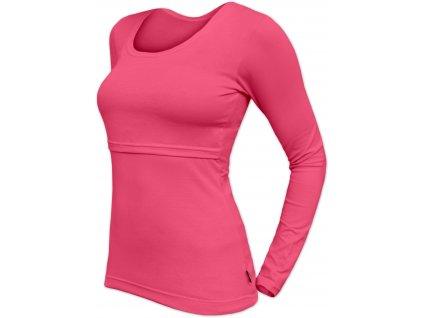 Kojicí tričko Kateřina, dlouhý rukáv, lososově růžové,