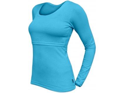 Kojicí tričko Kateřina, dlouhý rukáv, tyrkysové,