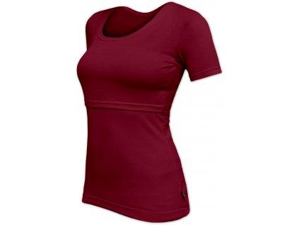 Kojicí tričko Kateřina, krátký rukáv, bordo (vínové)