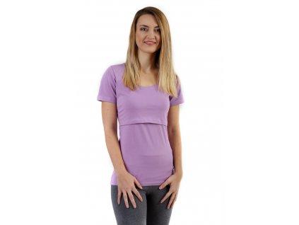 Kojicí tričko Kateřina, krátký rukáv, levandulově fialové