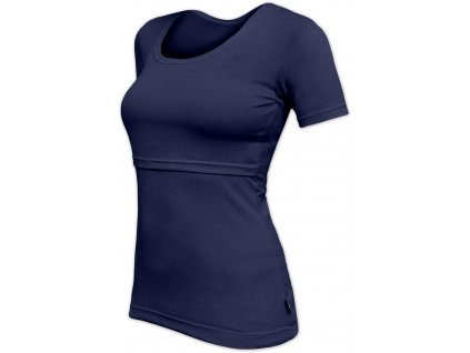 Kojicí tričko Kateřina, krátký rukáv, tmavě modré
