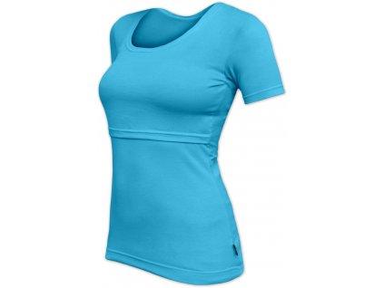 Kojicí tričko Kateřina, krátký rukáv, tyrkysové