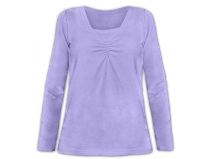 KLAUDIE- kojící tričko, vsadka v barvě, dlouhý rukáv, šeříková