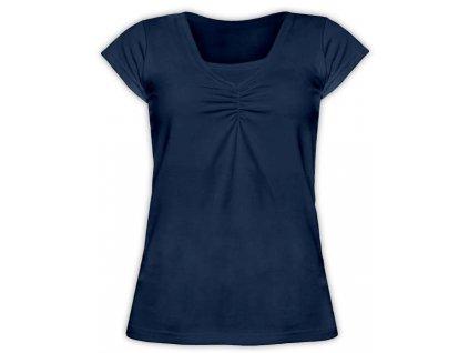 KLAUDIE- kojící tričko, vsadka v barvě, KR, tm. modrá ( jeans )