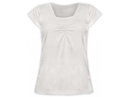 KLAUDIE- kojící tričko, vsadka v barvě, KR, smetanová