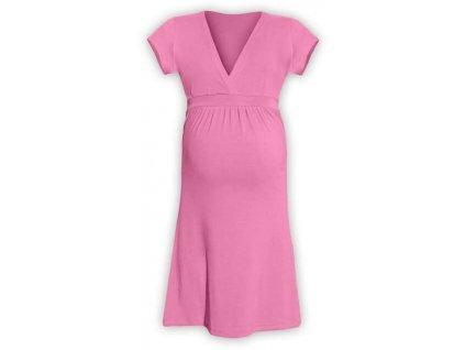 Těhotenské šaty ŠARLOTA, RŮŽOVÁ