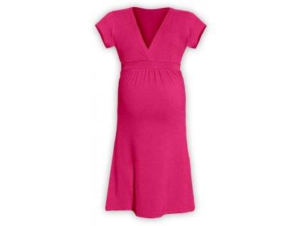 Těhotenské šaty ŠARLOTA, SYTĚ RŮŽOVÁ