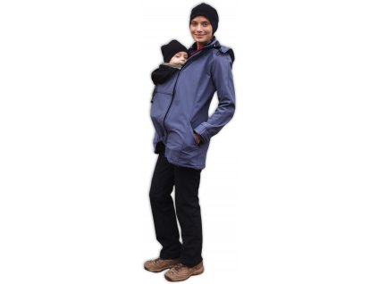 Těhotenská a nosící softshellová bunda Stella antracitová (tmavě šedá)