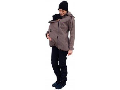 Těhotenská a nosící softshellová bunda Stella, béžová