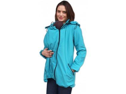Těhotenská a nosící softshellová bunda Stella, tyrkysové
