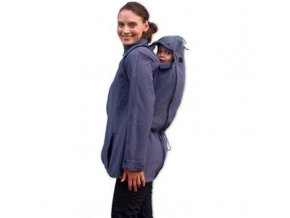 Nosící  a těhotenská softshellová bunda Sandra, antarcitová (tmavě šedá)