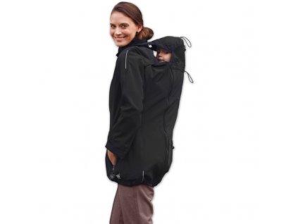 Nosící a těhotenská softshellová bunda Sandra, černá