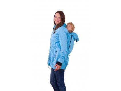 Nosící softshellová bunda Alice, světle modrý melír