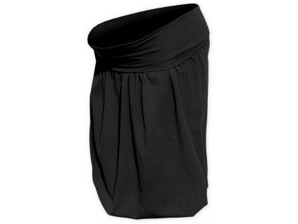 Těhotenská sukně balonová Sabina, černá