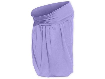Těhotenská sukně balonová Sabina, světle fialová