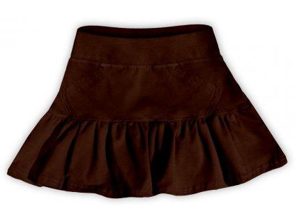 Dívčí (dětská) sukně,  ČOKO HNĚDÁ, velikost